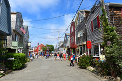Construção histórica em Rockport, Massachusetts Fotografia de Stock