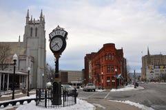 Construção histórica em Utica, Estados de Nova Iorque, EUA fotografia de stock