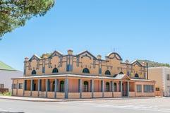 Construção histórica em Willowmore, África do Sul imagens de stock