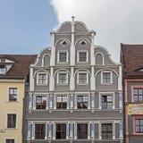 Construção histórica na cidade velha de Goerlitz, Alemanha foto de stock royalty free