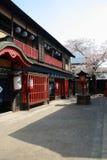 Construção histórica no parque do estúdio de Toei Kyoto Imagem de Stock
