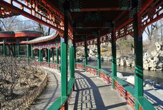 A construção histórica novo-reparada no jardim zoológico Imagem de Stock
