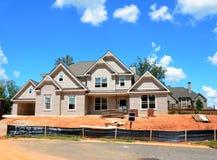 Construção home nova em Geórgia Fotografia de Stock