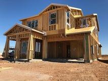 Construção home nova que quadro no sudoeste Fotografia de Stock Royalty Free