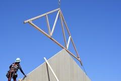Construção home nova que quadro no sudoeste imagem de stock