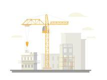 Construção horizontalmente branca ilustração royalty free