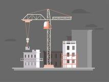 Construção horizontalmente escura ilustração stock