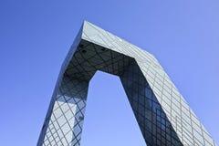 A construção icónica do CCTV, Pequim, China Imagens de Stock