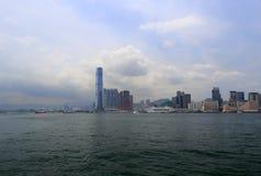 Construção Icc no porto de Hong Kong Foto de Stock Royalty Free
