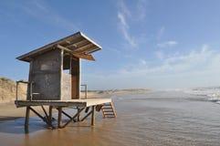 Construção inundada em Rocha Uruguai Fotos de Stock Royalty Free