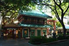 Construção japonesa maravilhosa em Honolulu foto de stock royalty free