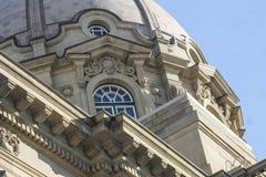 Construção legislativa das terras de Alberta fotos de stock