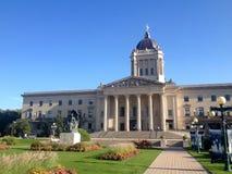 Construção legislativa de Manitoba em Winnipeg fotografia de stock royalty free