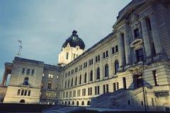 Construção legislativa de Saskatchewan em Regina Foto de Stock Royalty Free