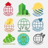 Construção Logo Pack Fotos de Stock Royalty Free
