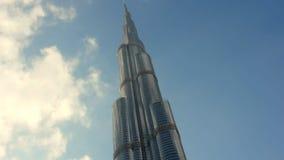 A construção a mais alta - Burj Khalifa - Dubai video estoque