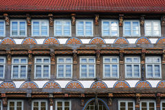 Construção medieval velha em Hameln, Alemanha fotografia de stock