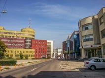 Construção moderna da arquitetura de negócio em Buzau Fotos de Stock