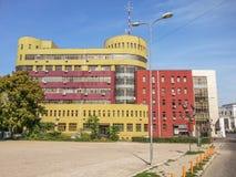 Construção moderna da arquitetura de negócio em Buzau Imagem de Stock