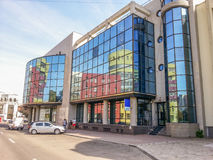 Construção moderna da arquitetura de negócio em Buzau Fotografia de Stock