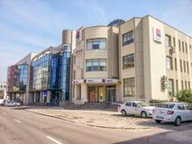 Construção moderna da arquitetura de negócio em Buzau Fotos de Stock Royalty Free