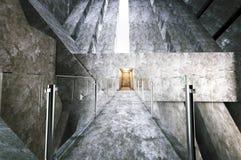 Construção moderna do concreto da entrada Foto de Stock