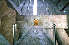 Construção moderna do concreto da entrada Fotos de Stock