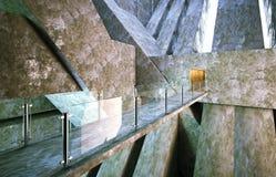 Construção moderna do concreto da entrada Imagens de Stock