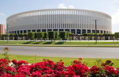 Construção moderna do ` de Krasnodar do ` do estádio imagem de stock royalty free