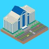 Construção moderna em uma rua da cidade ilustração royalty free