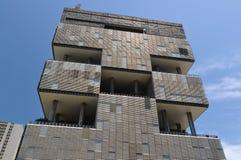 Construção moderna enorme da arquitetura dos anos 70 Foto de Stock