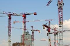 Construção na área de Milão Garibaldi Fotografia de Stock Royalty Free