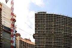 Construção na área de Milão Garibaldi Foto de Stock