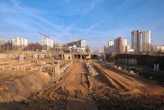 Construção na cidade fotografia de stock