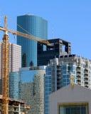 Construção na cidade Fotografia de Stock Royalty Free