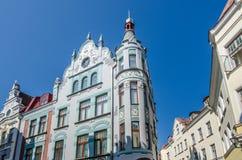 Construção na cidade velha de Tallinn, Estônia Imagem de Stock Royalty Free