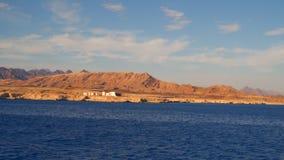 A construção na costa abandonada do Mar Vermelho video estoque