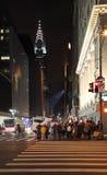 Construção na noite, New York de Chrysler, EUA Fotografia de Stock Royalty Free