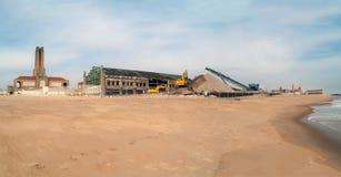 Construção na praia Foto de Stock Royalty Free