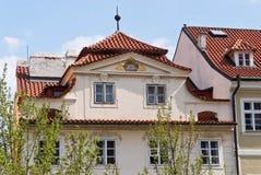 Construção na rua de Praga fotografia de stock royalty free