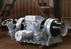 Construção naval, equipamento do navio Imagem de Stock