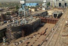Construção naval, reparo do navio Imagens de Stock Royalty Free