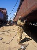Construção naval, reparo do navio Fotografia de Stock Royalty Free