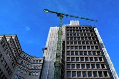Construção no centro da cidade de Birmingham sob a construção Foto de Stock