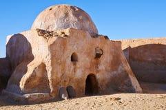 Construção no lugar da ONG Jemel, Tunísia Imagem de Stock