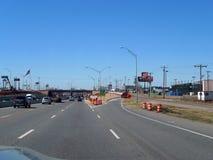 Construção no sistema de um estado a outro no Oklahoma City, Oklahoma Fotos de Stock