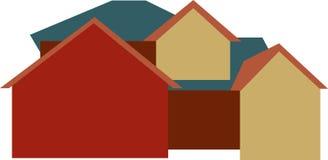 Construção nova da grande casa Ilustração Royalty Free