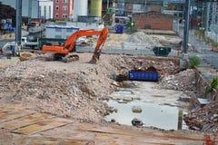 Construção nova de construção, no lugar da fábrica Imagens de Stock Royalty Free