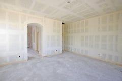 Construção nova do interior do Drywall foto de stock royalty free