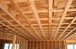Construção nova do teto fotografia de stock